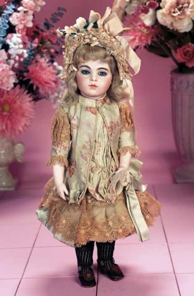 Dimples & Sawdust: 30 Very Beautiful French Bisque Bebe Bru,Size 6,by Leon Casimir Bru with Exquisite Costume