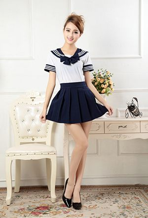 7 Colors Japanese School Uniforms Sailor tops+bow+skirt Navy Style Students Clothes For Girl Lala Cheerleader Clothing Plus size-in School Uniforms from Novelty & Special Use on Aliexpress.com   Alibaba Group