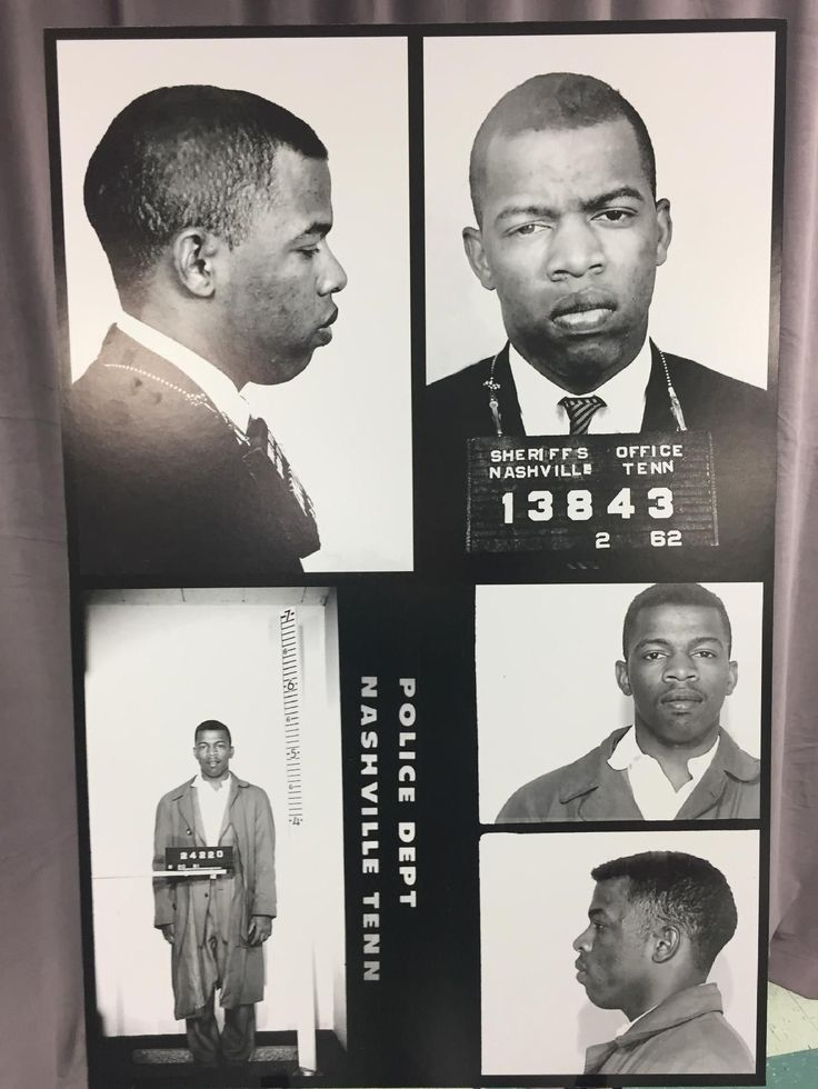 When civil rights icon John Lewis returned to Nashville this weekend, he was greeted just like he was more than 50 years ago — with a mug shot and an arrest record.