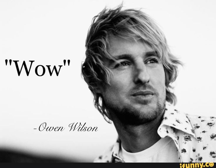 Image result for owen wilson wow meme
