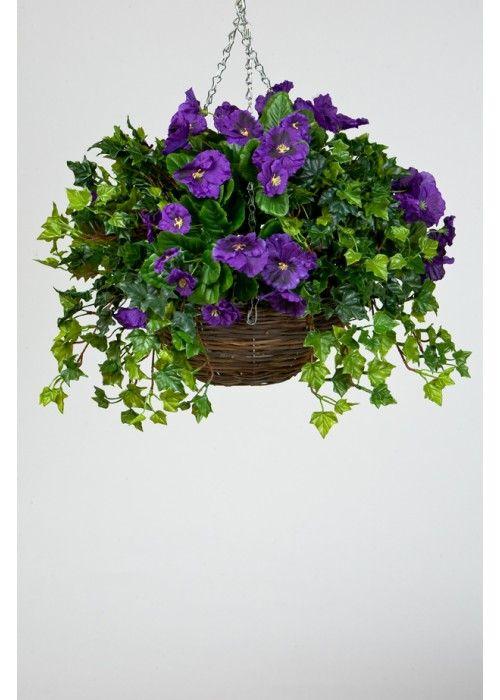 14 best artificial flowers in hanging baskets images on. Black Bedroom Furniture Sets. Home Design Ideas