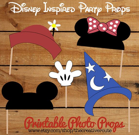 Mickey Mouse and Minnie Mouse Photo Props or party decoration centerpiece -