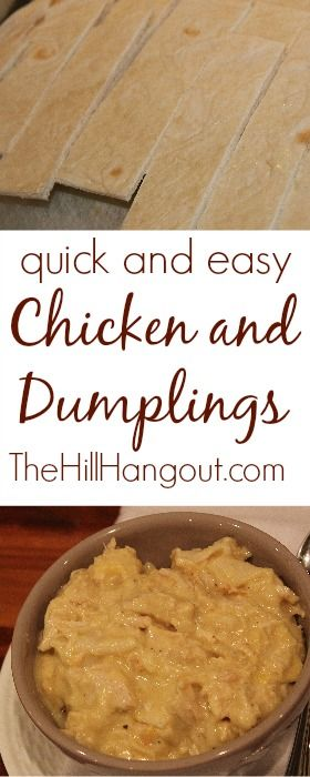 Quick and easy Chicken and Dumplings from TheHillHangout.com. These are made with tortillas!