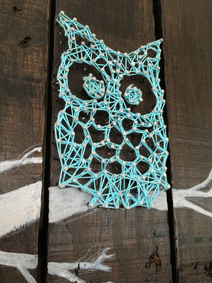 string art hibou et palette cr ations pinterest art. Black Bedroom Furniture Sets. Home Design Ideas