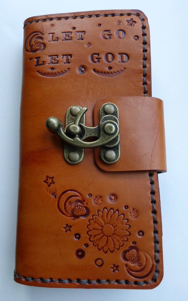 Samsung Galaxy 8 Plus leather phone case wallet, Let Go Let God phone case,leather wallet,leather phone case,phone sleeve,custom phone cover by BaublesAndBlingCo on Etsy