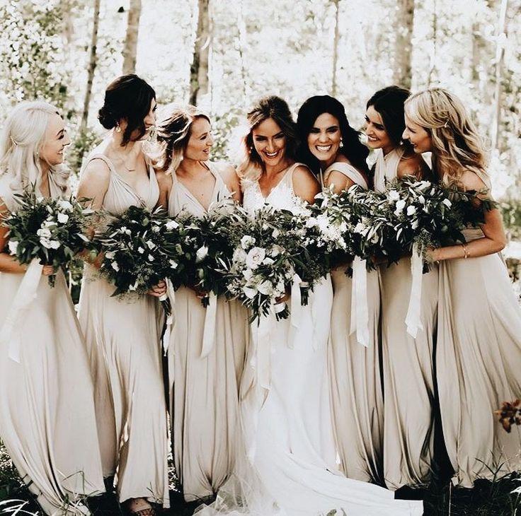 Earth Tone Bridesmaid Dresses
