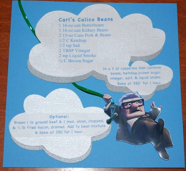 Disney ABC Recipe Swap by nhagen - Cards and Paper Crafts at Splitcoaststampers