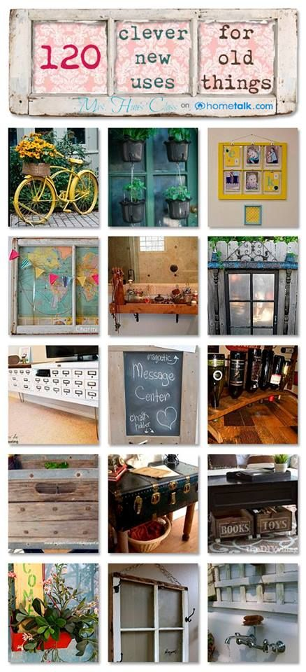new uses for old things, upcycle, repurpose, thrifing