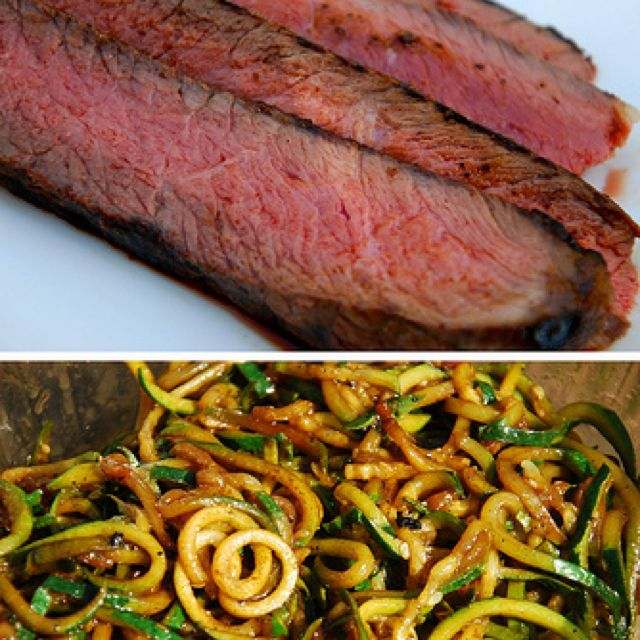 Balsamic Marinated London Broil Steak with Pan-Fried ...