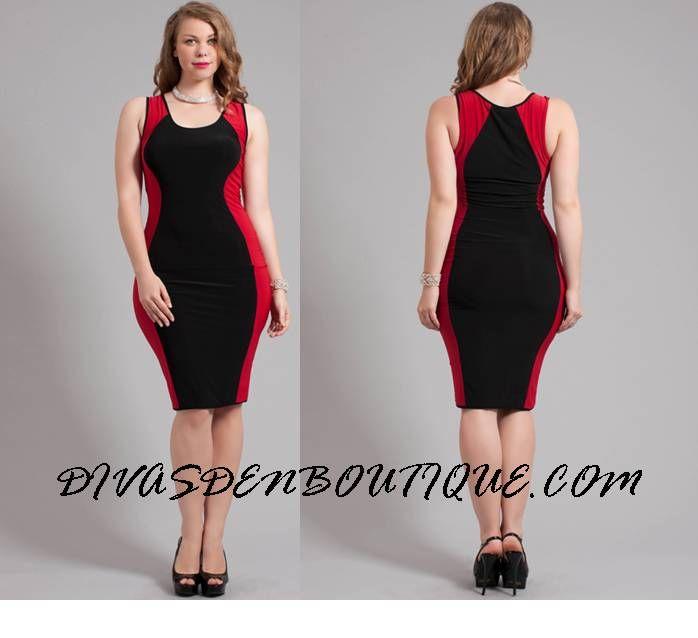 Colour block dress plus size