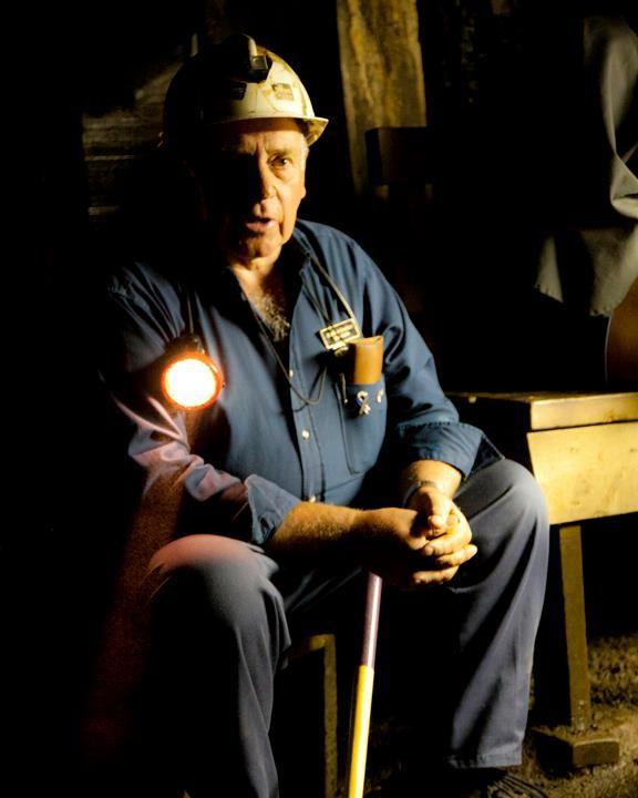Sheldon, a retired coal miner, at the Cape Breton Miner's Museum.  Glace Bay, Cape Breton, Nova Scotia.