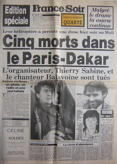 Un documentaire inédit, ce soir, sur l'accident mortel de Thierry Sabine et Daniel Balavoine.