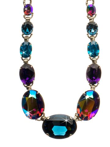 Oval Cut Crystal Long Strand Necklace - Clearance in Northern Lights - Sorrelli