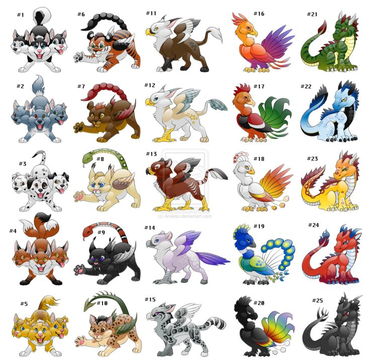Mythical Creatures Adoptables -must have name that i like to adopt- by Araless on deviantART