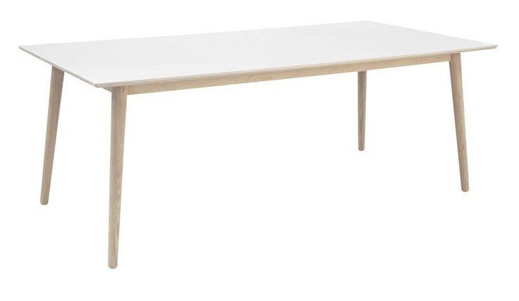 Republic Spisebord - Hvit - Moderne spisebord i skandinavisk design. Flaten på bordet er behandlet med Interstils egen WL vokslakkering som gjør at det er ekstremt slitesterkt og utrolig enkelt og vedlikeholde.