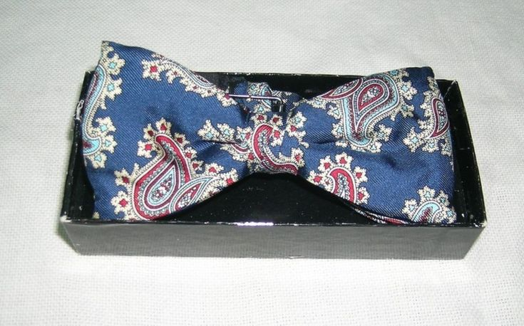 Adjustolox Gentleman's Vintage Blue Paisley Adjustable PRE-TIED Bow Tie  New without tags Free US shipping | eBay!