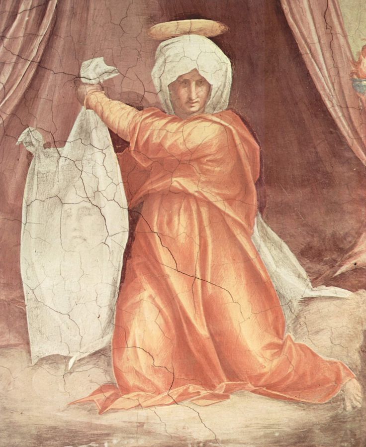 "Veronica and the image"" (1515) - Pontormo - fresco  (Santa Maria Novella, Florence)"
