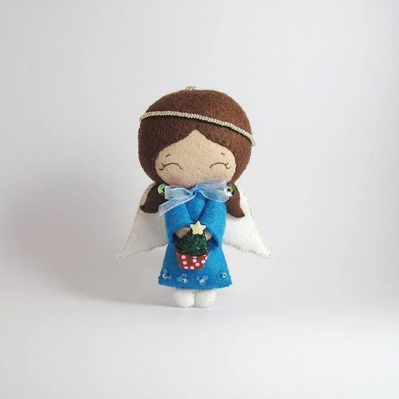 Felt angel ornament Christmas angel christmas by UnBonDiaHandmade