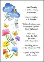 Surprise Baby Shower Clouds with Raindrops Invitations For Party Celebrations for 79 Cents Each Exclusively at InvitationsByU.com