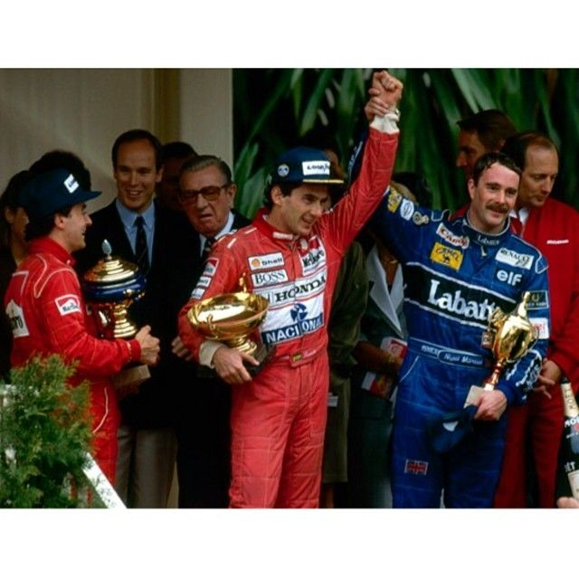 Ayrton with Mansell and Alesi(Monaco,1992)