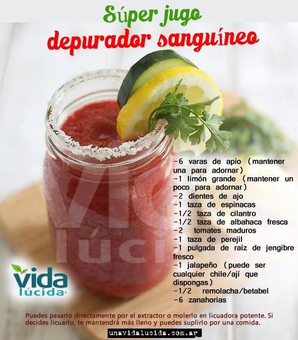 Súper depurador sanguíneo: Ver más info aquí: http://www.lavidalucida.com/2013/06/como-depurar-y-limpiar-el-organismo-con.html