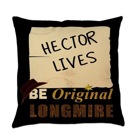 Longmire Tv Everyday Pillow on #Wyoming Sheriff Badge #Walt #Longmire #western TV show Longmire #Sheriff Badge #Sheriff #Cowboy #Ranch