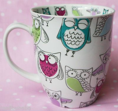 Retro Owl Coffee Mug - I have this! Birthday gift from my coworkers! Favorite mug!