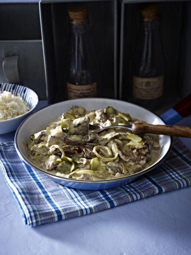 Unser beliebtes Rezept für Steakpfanne à la Bœuf Stroganoff und mehr als 55.000 weitere kostenlose Rezepte auf LECKER.de.