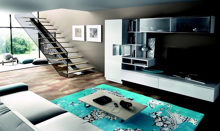Blanco...con toque especial de alfombra