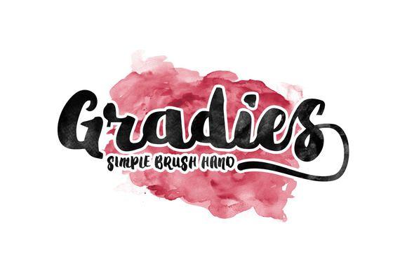 Gradies Brush by Ijemrockart / Letterplay on @creativemarket