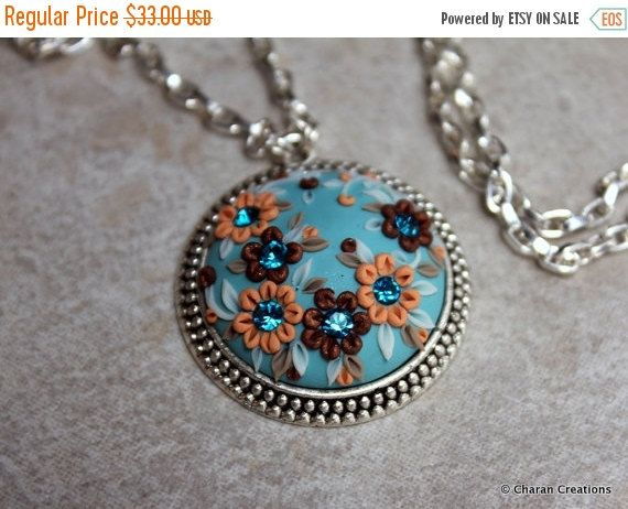 BOXING SALE Polymer Clay Applique Statement by charancreations