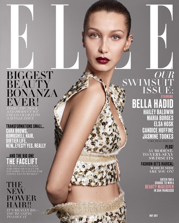 Bella Hadid on ELLE Magazine May 2017 Cover