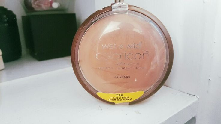 Wet n wild ticket to brazil bronzer. Nice warmth to your face.