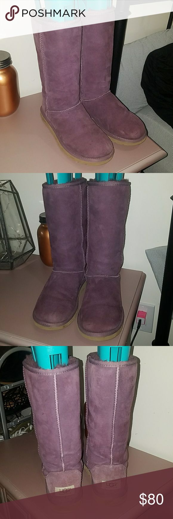 Tall purple uggs Tall purple uggs in great condition. UGG Shoes Ankle Boots & Booties