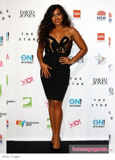 Jessica Mauboy love this dress, her hair and love her!