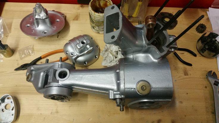 Lambretta LC 125 1951 restauro blocco motore