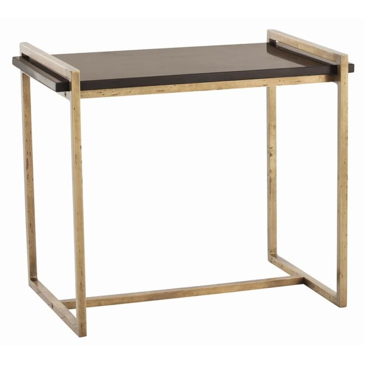 Arteriors 6392.6683 Hollis 26 Inch Long Marble Top End Table Vintage Brass Furniture Tables End Tables