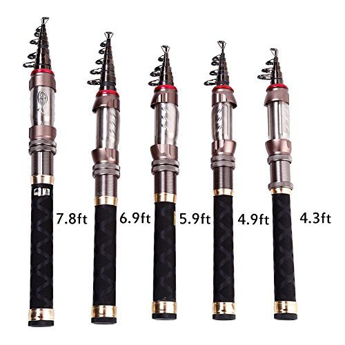 Sougayilang Mini Size Portable Travel Telescopic Fishing Rod (4.3ft)  http://fishingrodsreelsandgear.com/product/sougayilang-mini-size-portable-travel-telescopic-fishing-rod/?attribute_pa_size=4-3ft  Mini portable size telescopic fishing rod, allow you to travel fishing and enjoy fishing whenever and wherever you want, With the features of good elasticity. Fishing rod size: 4.3ft, Closed length: approx 10.6in, Weight: approx 4oz, Sections: 8. Stainless steel guides with ceram