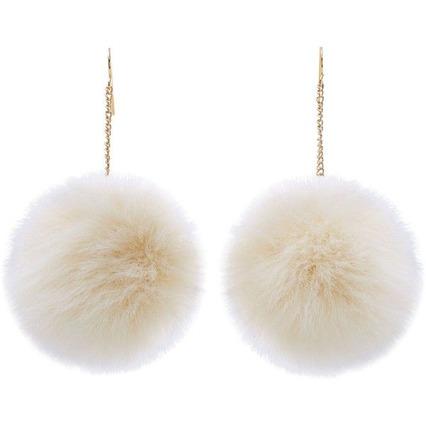 New Look Cream Drop Pom Pom Earrings ($2.62) ❤ liked on Polyvore featuring jewelry, earrings, accessories, acc, fillers, cream, earring jewelry, pom pom jewellery, pom pom jewelry and new look jewellery