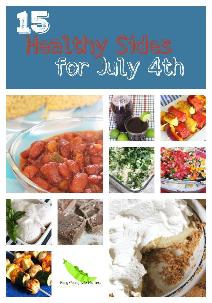 15 Healthy Sides for July 4th - Real Food side dishes that are simply perfect for a healthy 4th of July! #HealthyRecipes #HealthyPotluck #HealthyBarbecue #CleanEating