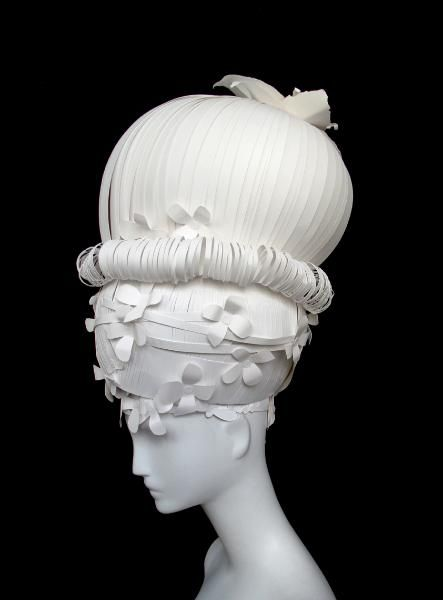 18th century fashion - inspired paper wigs by Nikki Salk and Amy Flurry
