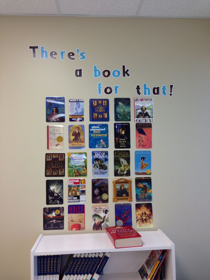 Reading board in a middle school classroom