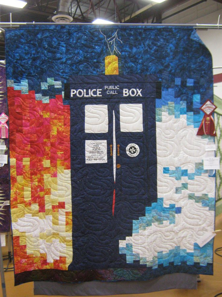 Amazing Doctor Who quilt! Whoever made this is very talented. this picture was taken at a quilt show in Kerrville,