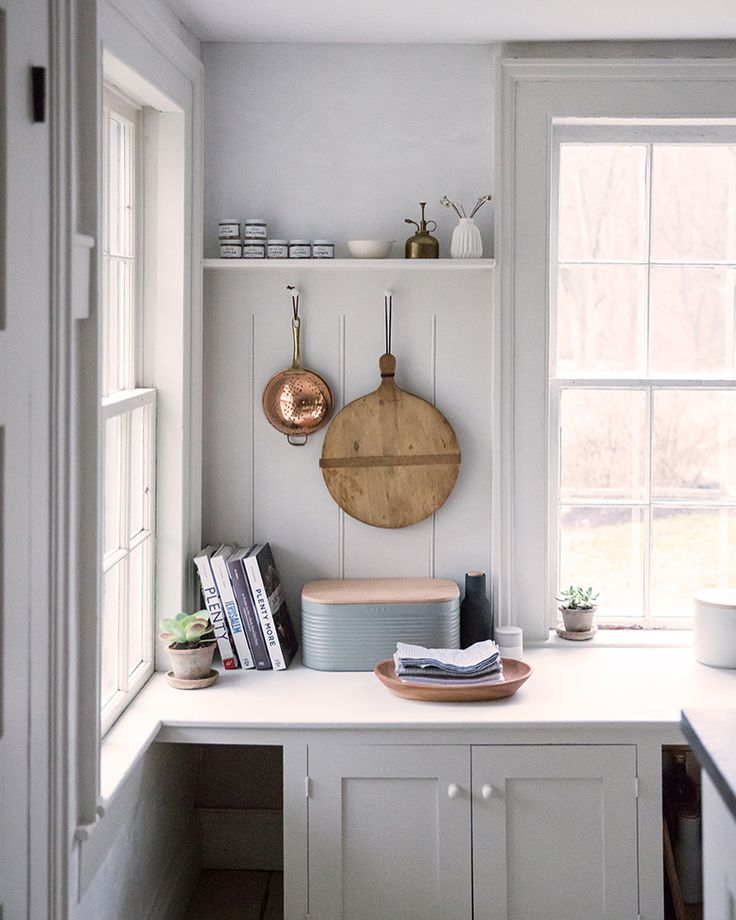 Kitchens With Wood Paneling: Paint Color 'Olympic Mountain' By Benjamin Moore