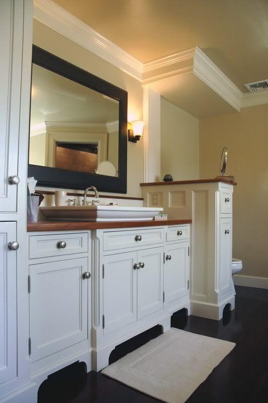 Pony Wall Between Vanity And Tub Bathroom Pony Wall