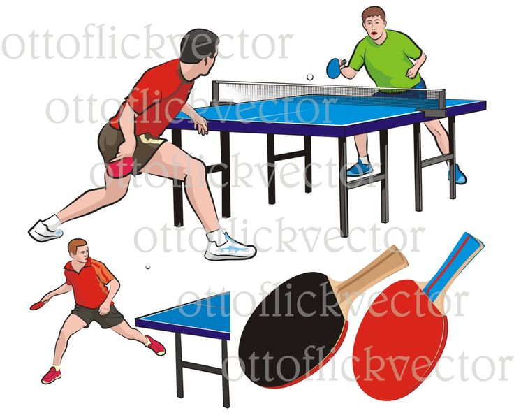 TABLE TENNIS Vector Clipart, ping pong match eps, ai, cdr, png, jpg, tennis players, table, racket, tennis racquet, leisure recreation sport by ottoflickvector on Etsy