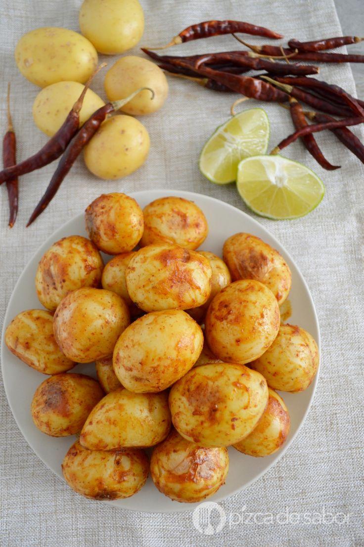 Papas al chile y limón www.pizcadesabor.com