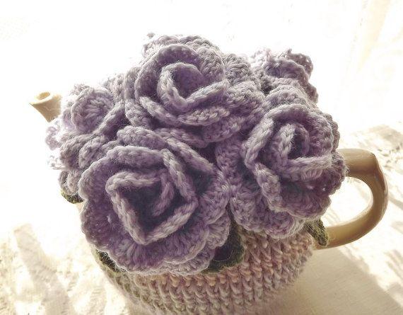 Lilac Rose Tea Cozy by SunshineCottage on Etsy