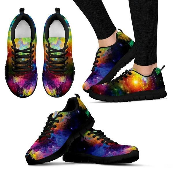 b336a3f25124 Colorful Universe Sneakers. Lightweight construction with breathable mesh  fabric. High quality sole for traction   exceptional durability.