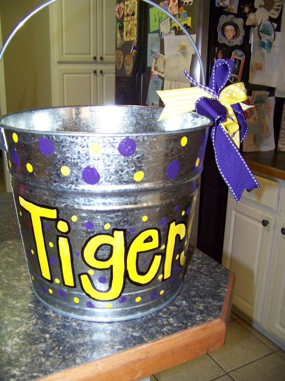 LSU Tiger Drink Bucket... I need to do one for the BAMA game!